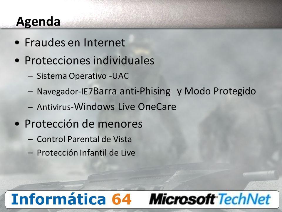Agenda Fraudes en Internet Protecciones individuales