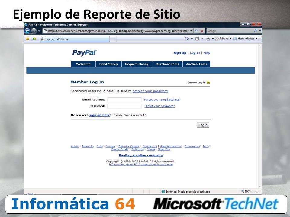 Ejemplo de Reporte de Sitio