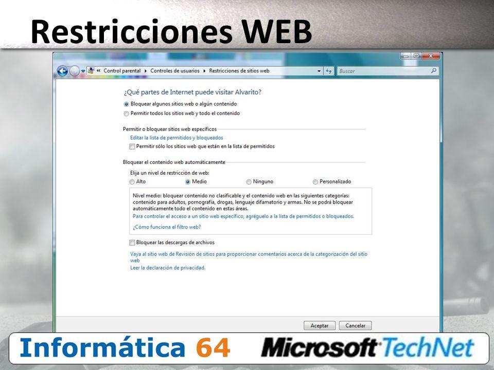 Restricciones WEB 3/24/2017 4:00 PM