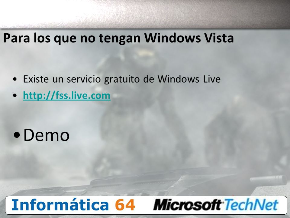 Para los que no tengan Windows Vista