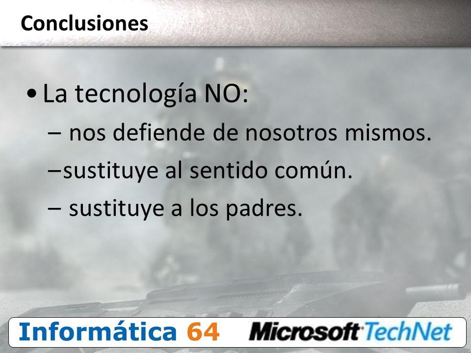 La tecnología NO: nos defiende de nosotros mismos.