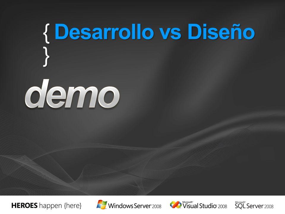 { Desarrollo vs Diseño }