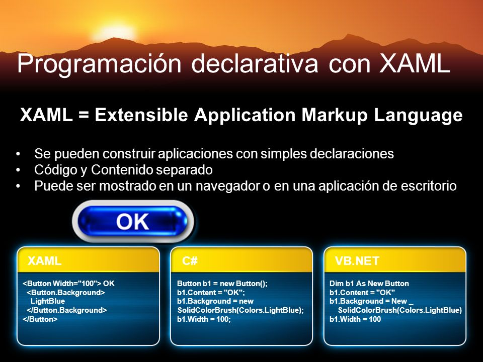 Programación declarativa con XAML