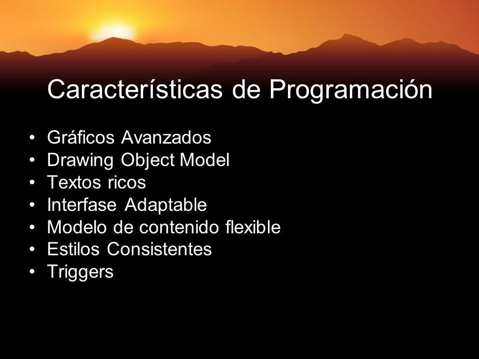 Características de Programación