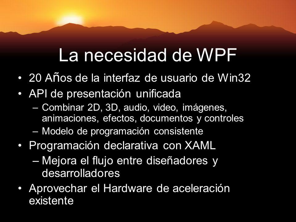 La necesidad de WPF 20 Años de la interfaz de usuario de Win32