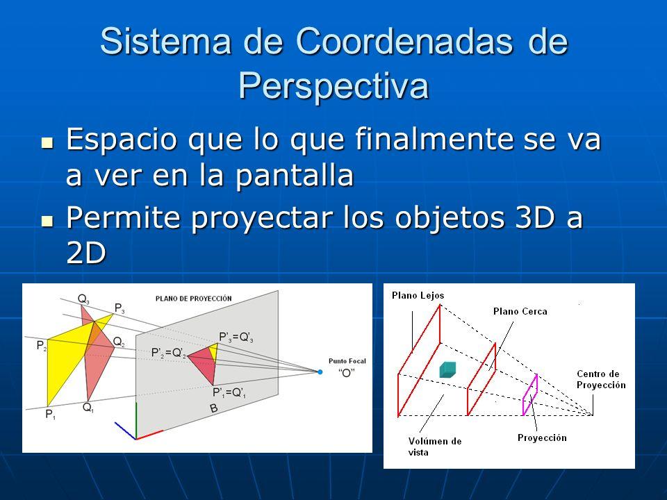 Sistema de Coordenadas de Perspectiva