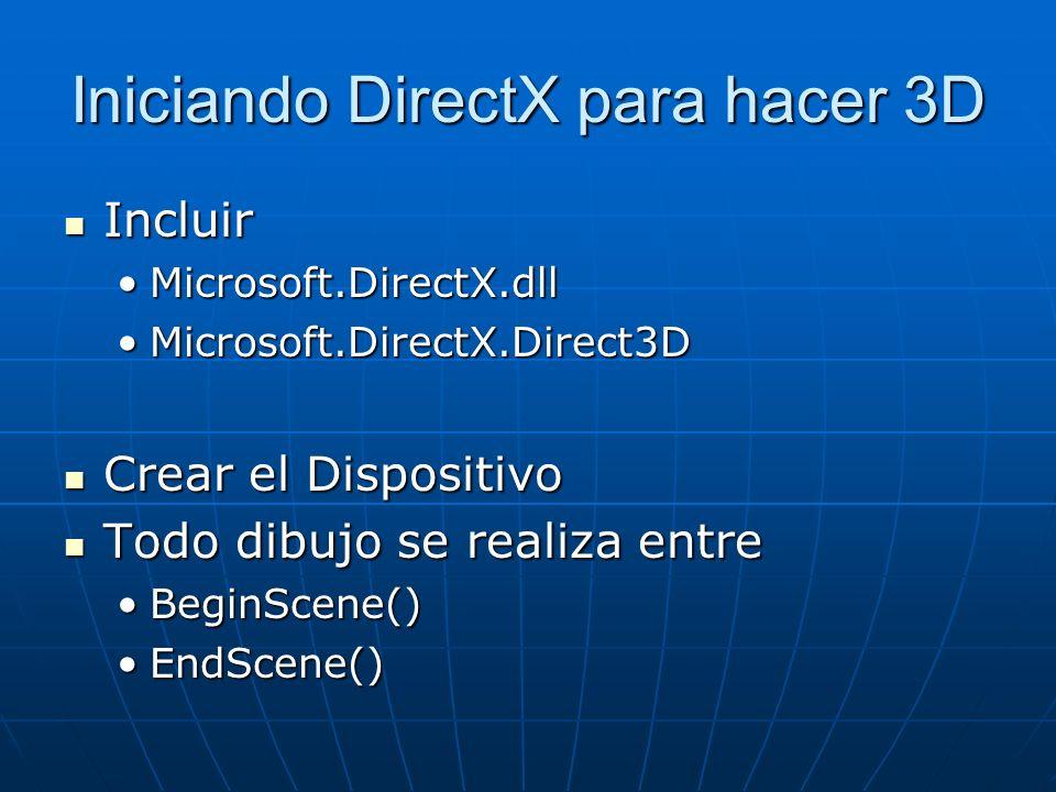 Iniciando DirectX para hacer 3D