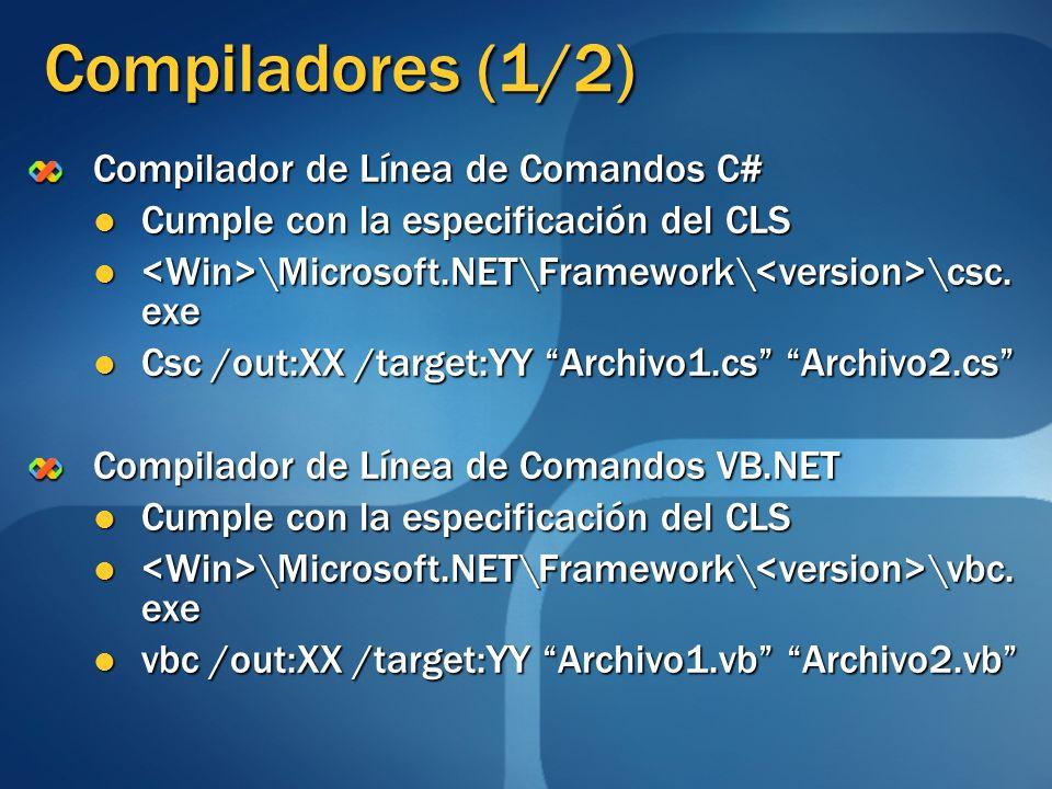 Compiladores (1/2) Compilador de Línea de Comandos C#