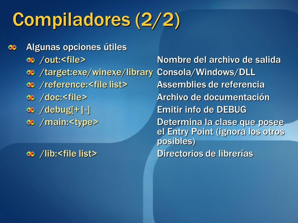 Compiladores (2/2) Algunas opciones útiles