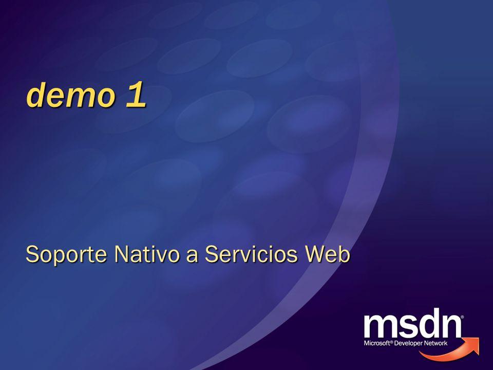 Soporte Nativo a Servicios Web