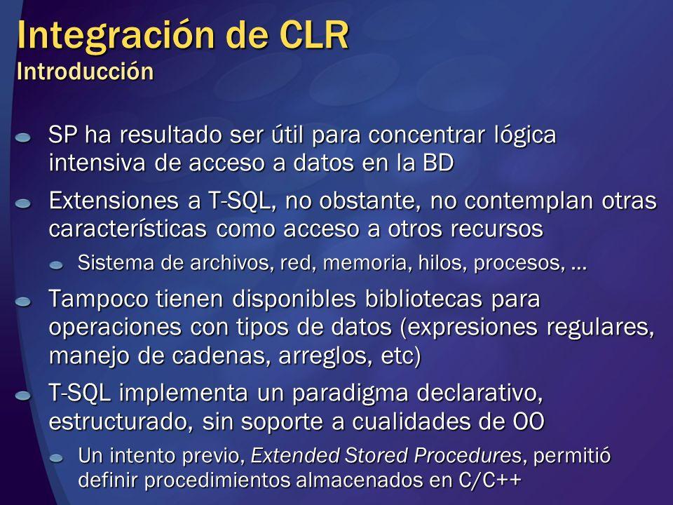 Integración de CLR Introducción