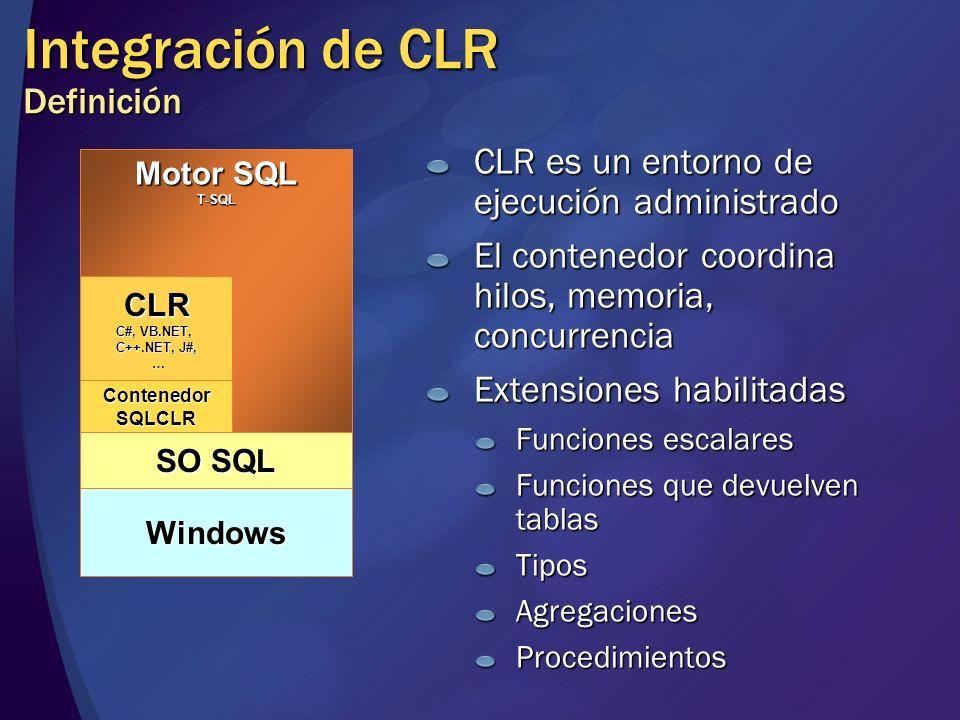 Integración de CLR Definición