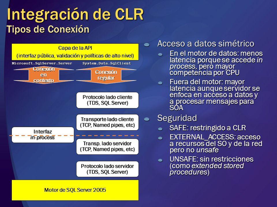 Integración de CLR Tipos de Conexión