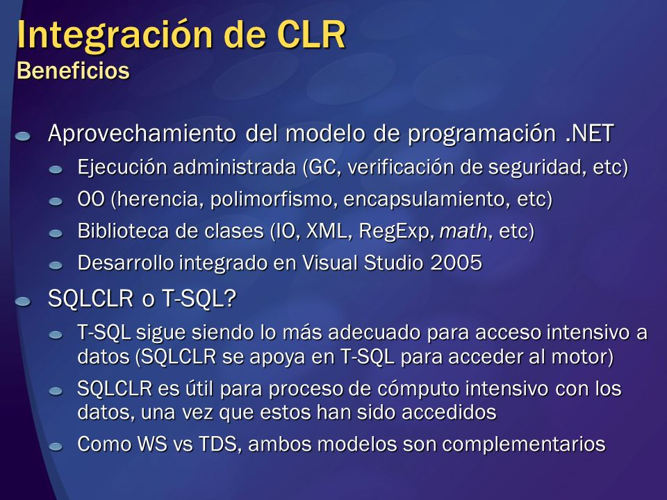 Integración de CLR Beneficios