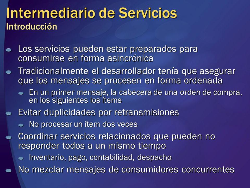Intermediario de Servicios Introducción
