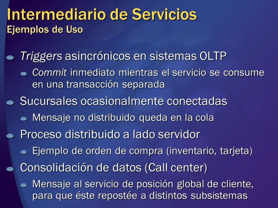 Intermediario de Servicios Ejemplos de Uso