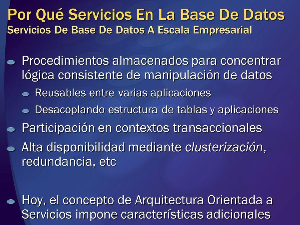Por Qué Servicios En La Base De Datos Servicios De Base De Datos A Escala Empresarial