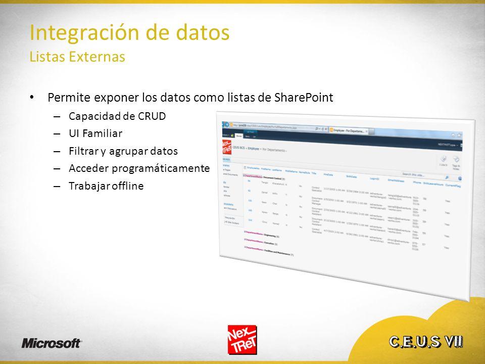 Integración de datos Listas Externas