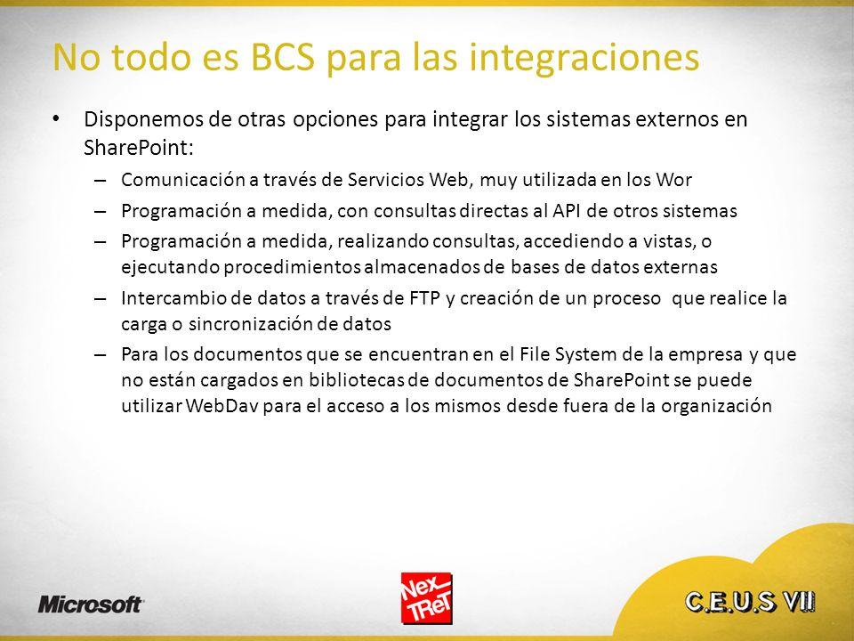 No todo es BCS para las integraciones