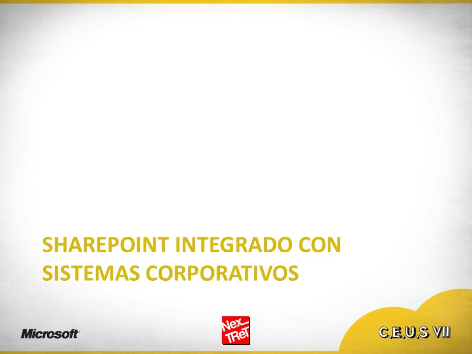 SharePoint integrado con sistemas corporativos