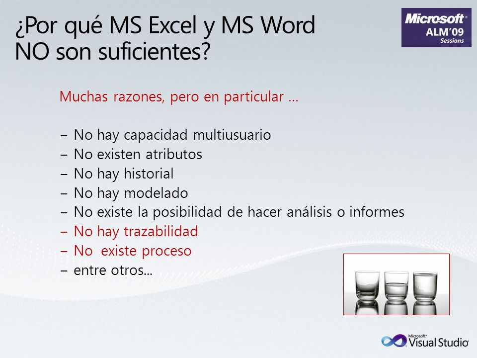 ¿Por qué MS Excel y MS Word NO son suficientes