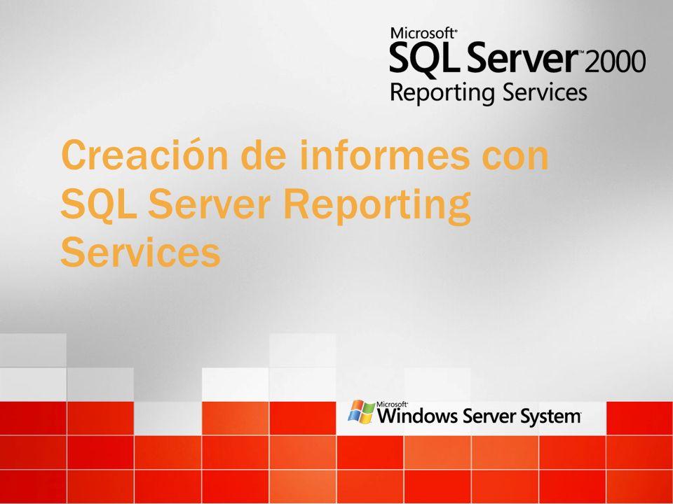 Creación de informes con SQL Server Reporting Services