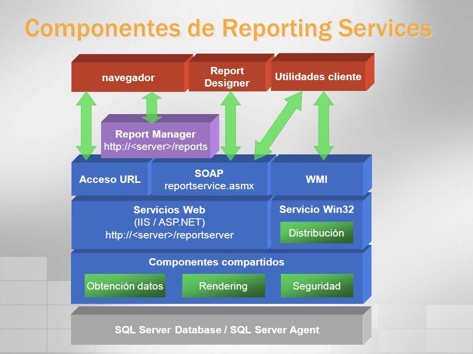 Componentes de Reporting Services