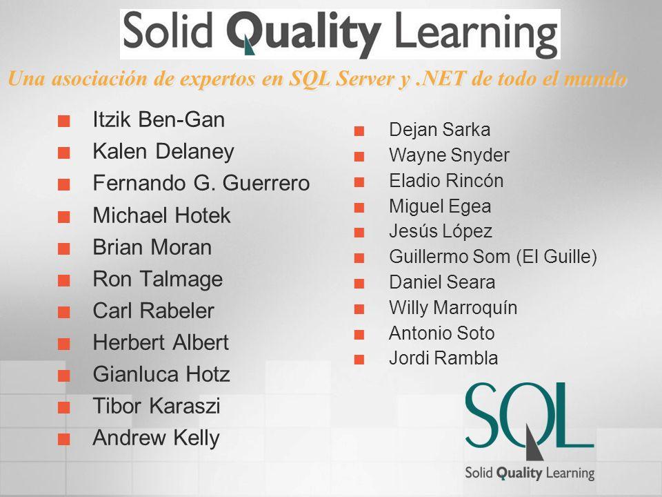 Una asociación de expertos en SQL Server y .NET de todo el mundo