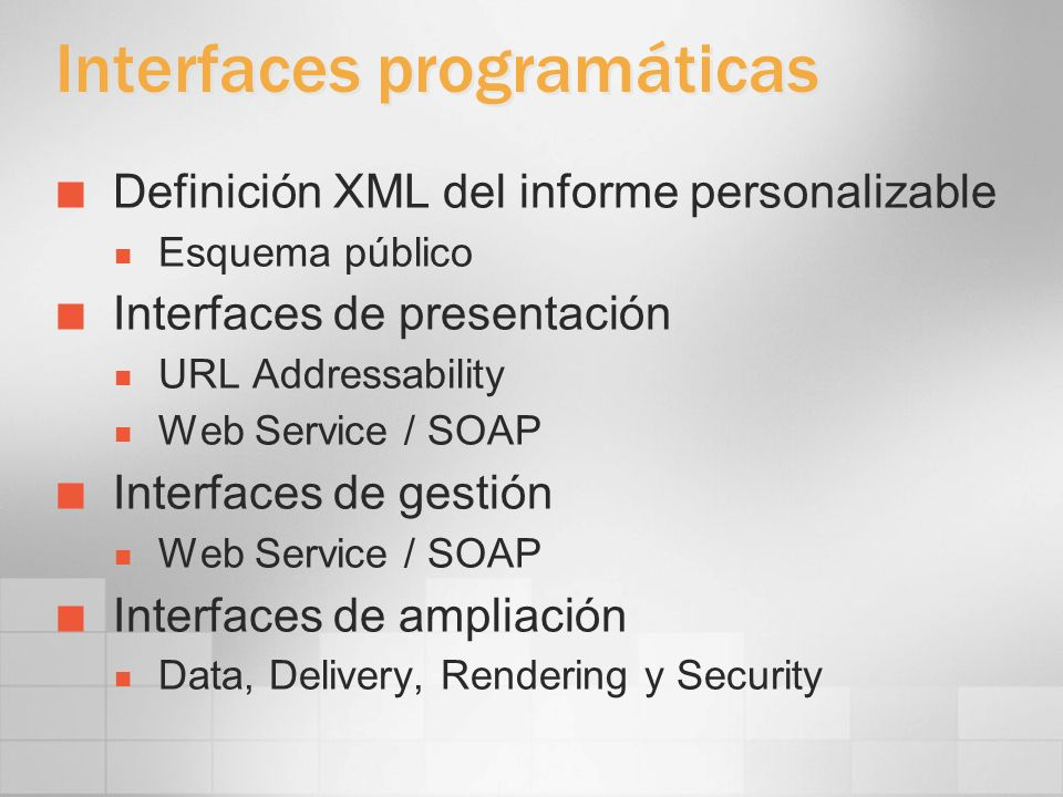 Interfaces programáticas