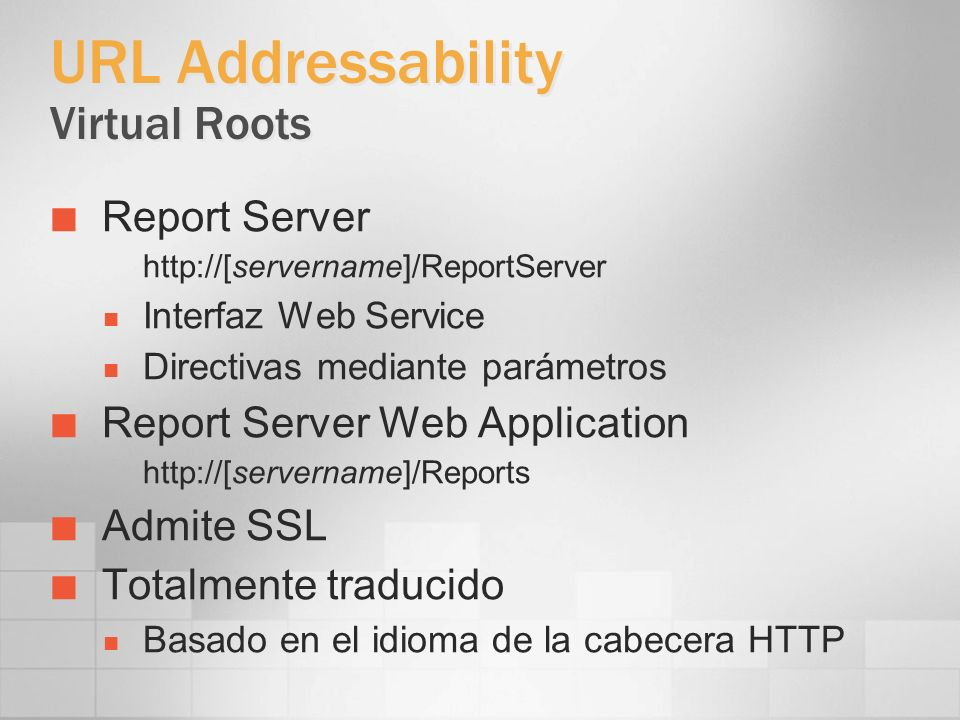 URL Addressability Virtual Roots