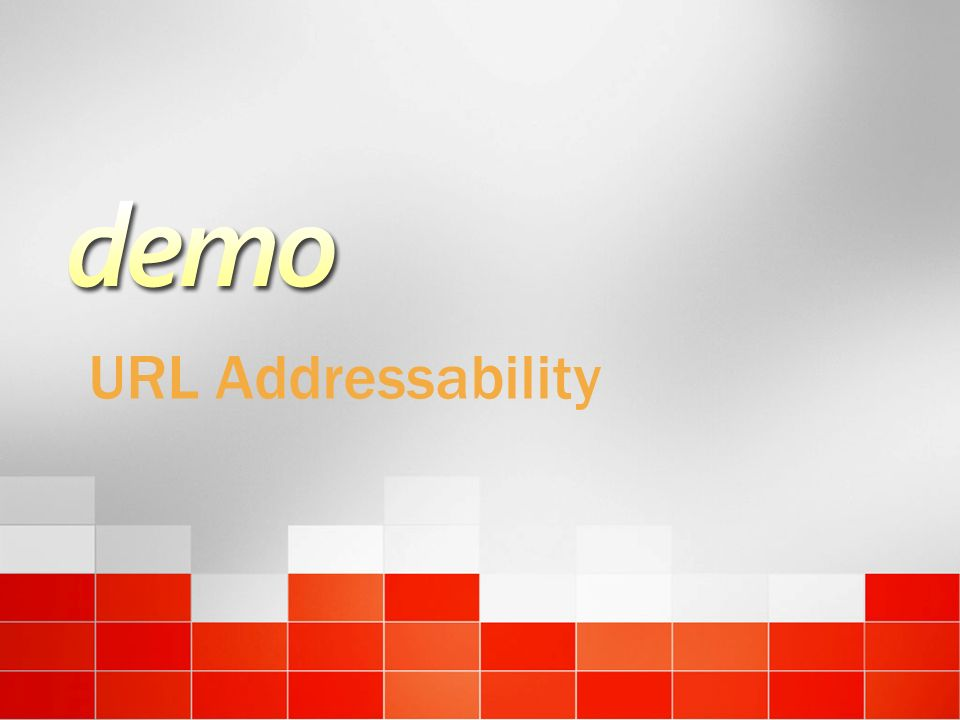 URL Addressability 3/24/2017 4:00 PM