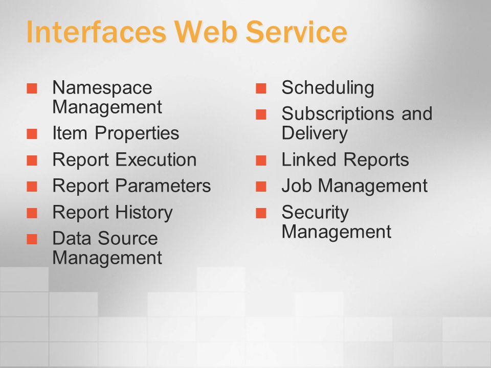 Interfaces Web Service