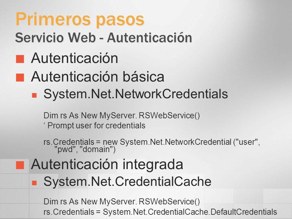 Primeros pasos Servicio Web - Autenticación