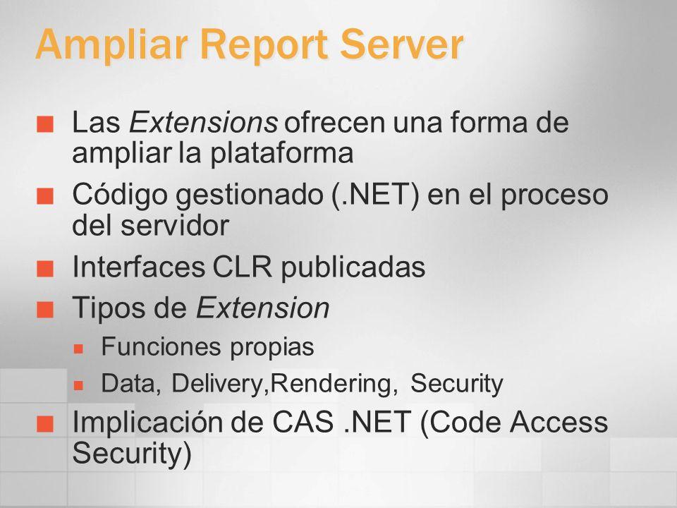 3/24/2017 4:00 PMAmpliar Report Server. Las Extensions ofrecen una forma de ampliar la plataforma.