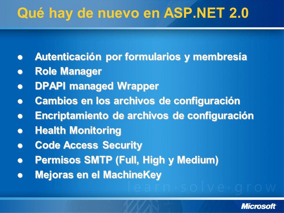 Qué hay de nuevo en ASP.NET 2.0