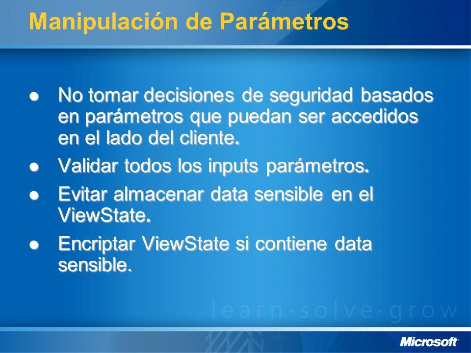 Manipulación de Parámetros