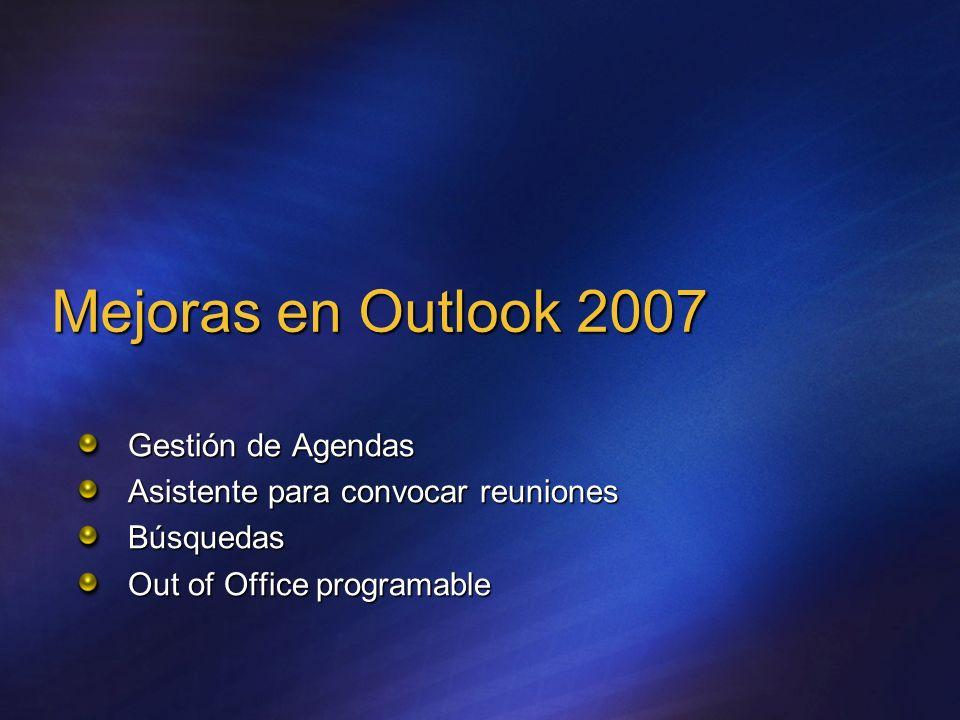 Mejoras en Outlook 2007 Gestión de Agendas