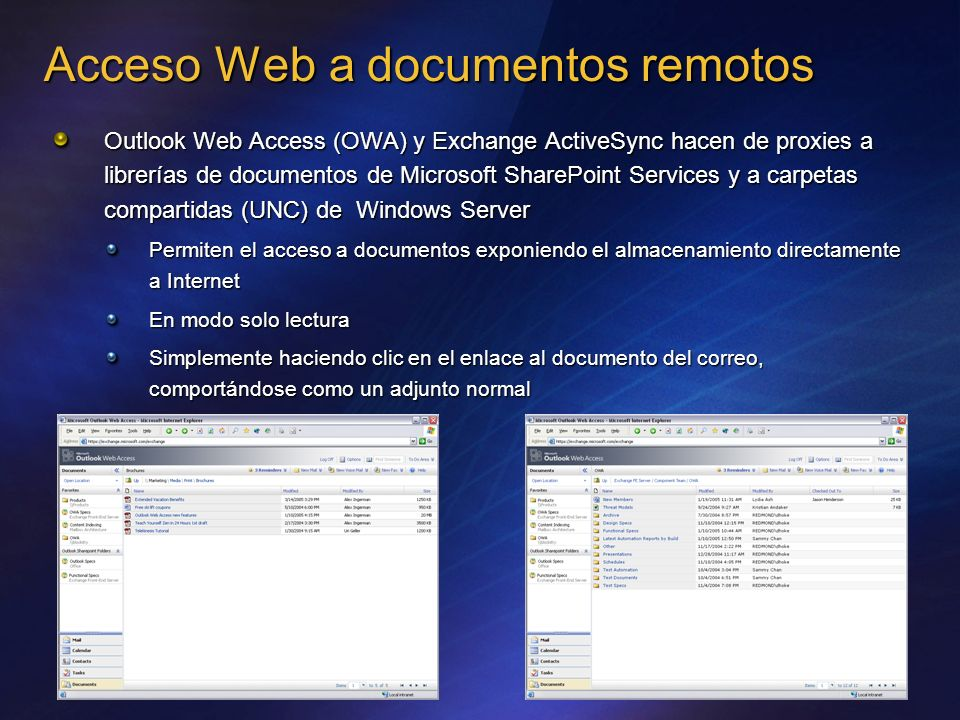 Acceso Web a documentos remotos