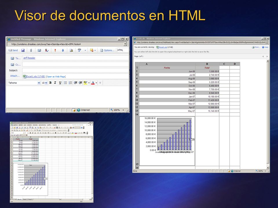 Visor de documentos en HTML