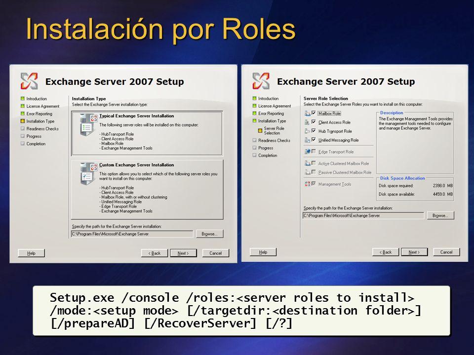Instalación por Roles