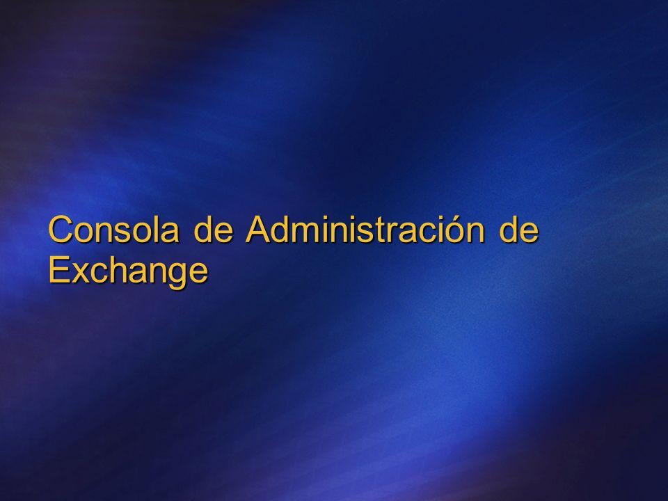 Consola de Administración de Exchange