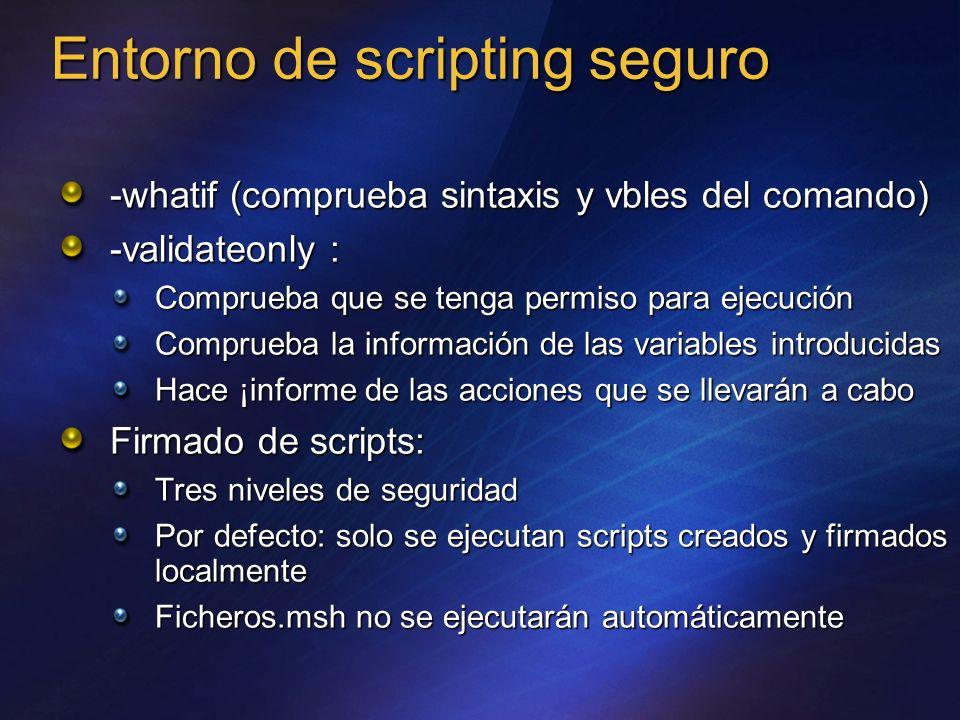 Entorno de scripting seguro
