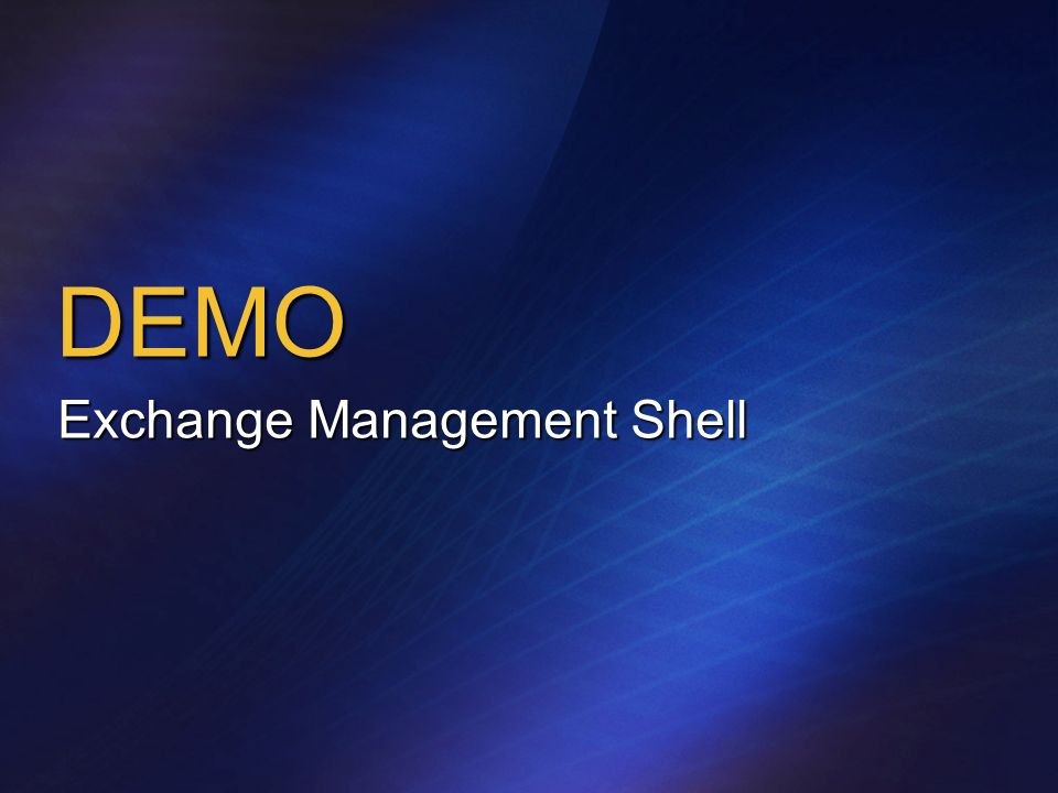 DEMO Exchange Management Shell