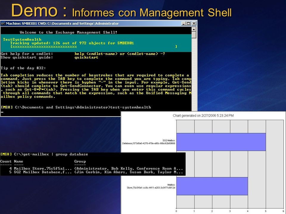 Demo : Informes con Management Shell
