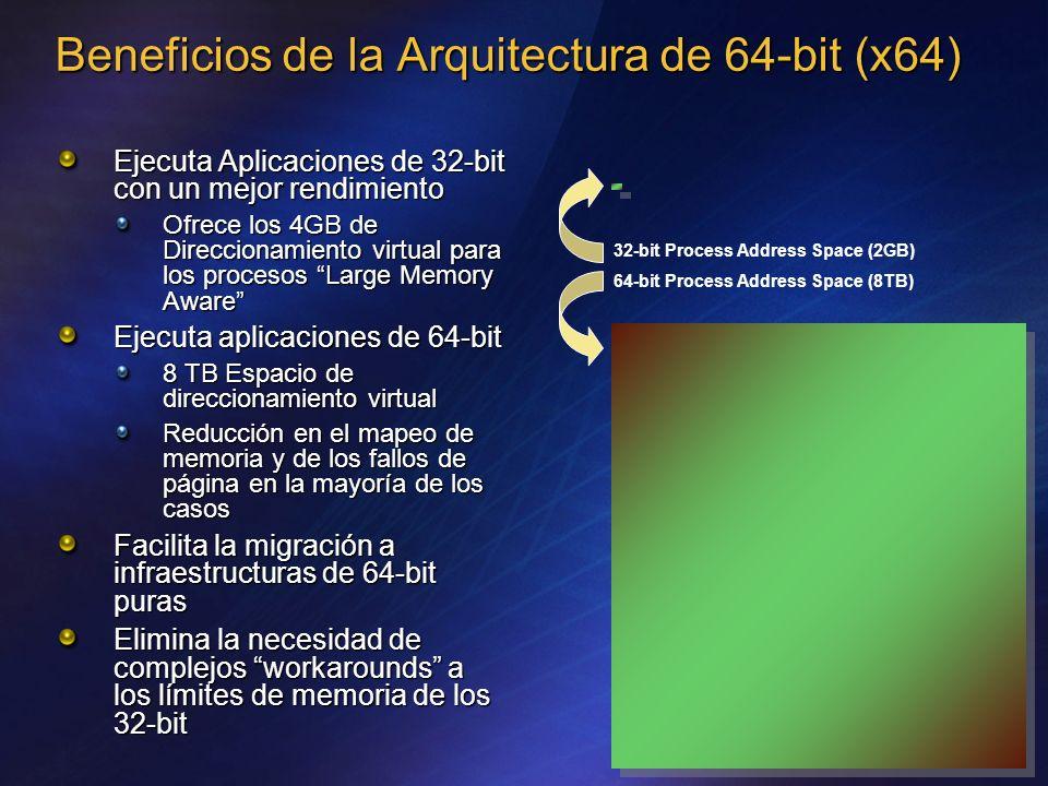 Beneficios de la Arquitectura de 64-bit (x64)