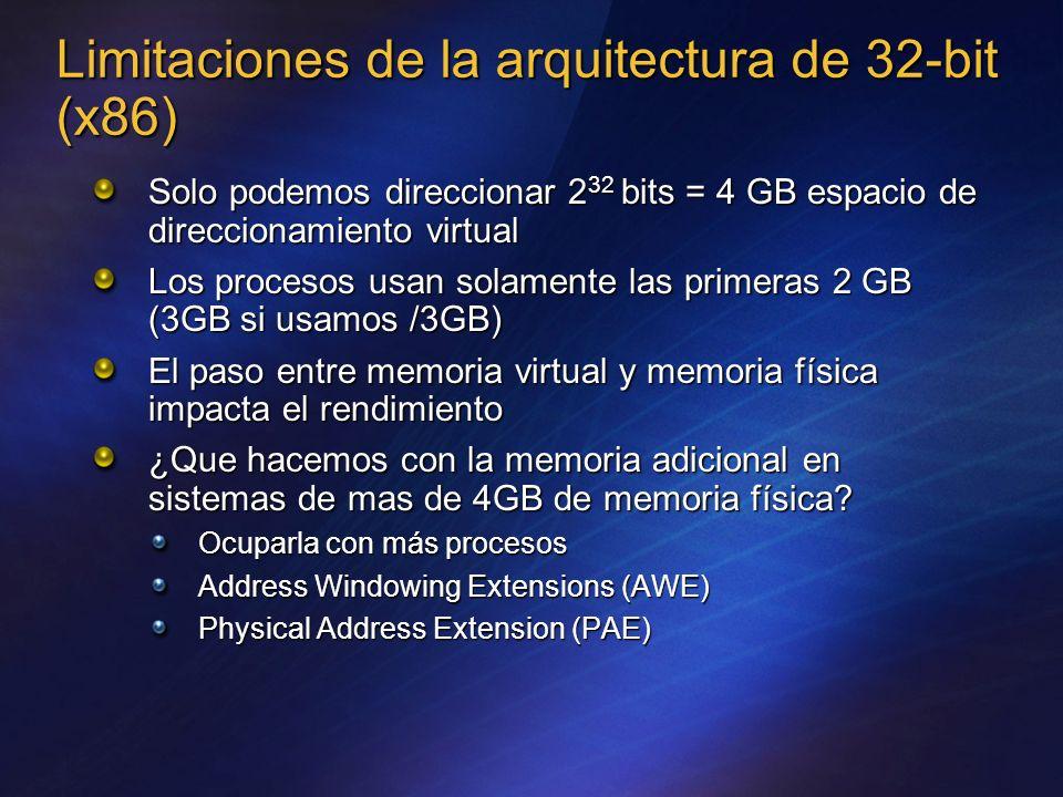 Limitaciones de la arquitectura de 32-bit (x86)