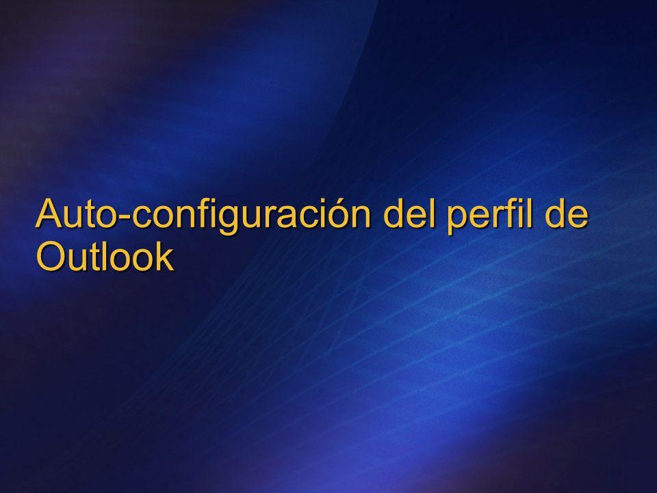 Auto-configuración del perfil de Outlook