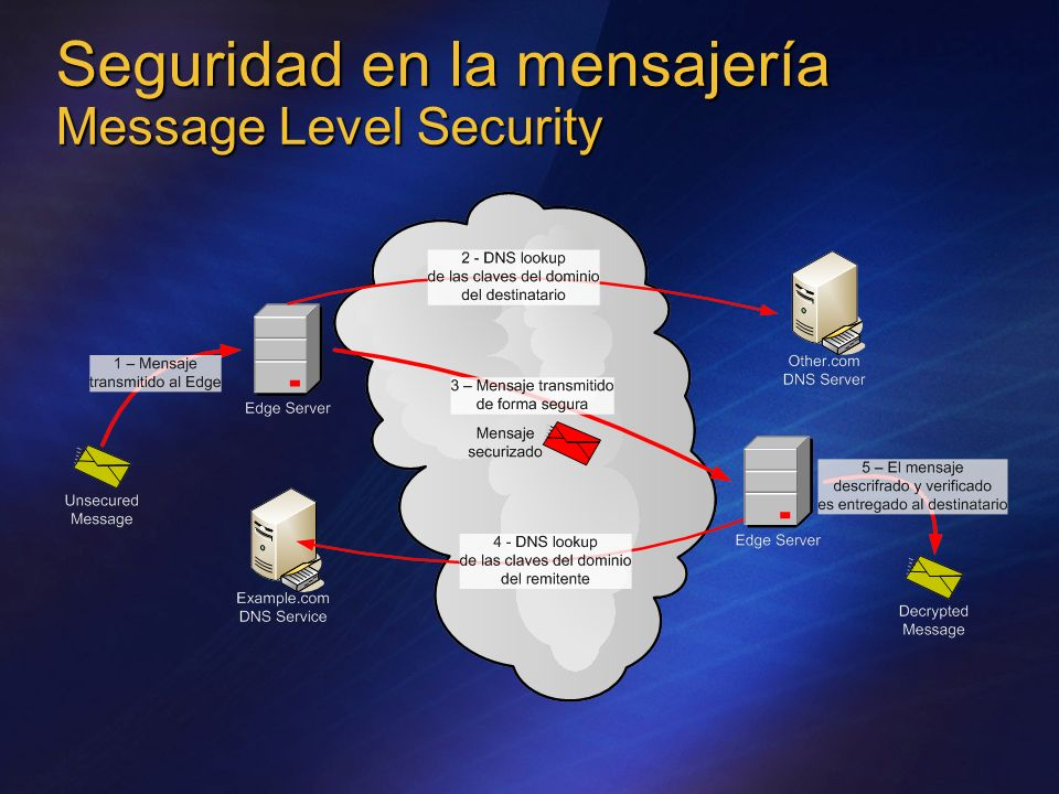 Seguridad en la mensajería Message Level Security