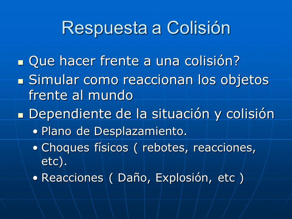 Respuesta a Colisión Que hacer frente a una colisión