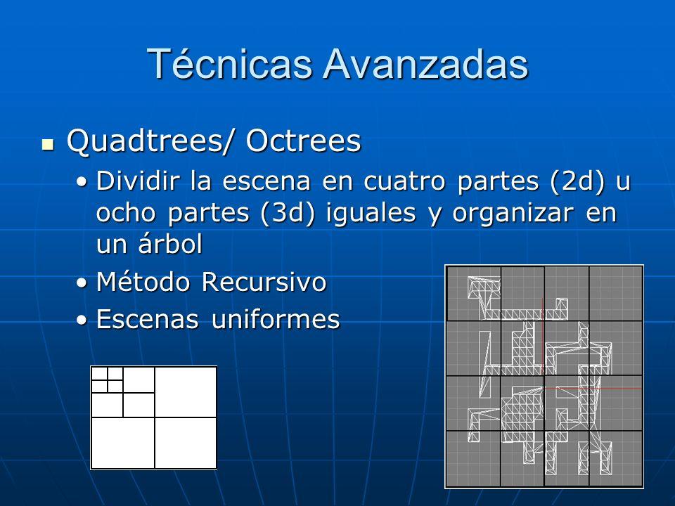 Técnicas Avanzadas Quadtrees/ Octrees